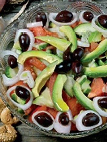 005016 Avocado salad recipe – Greek recipes