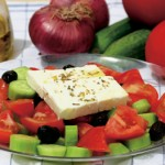 "The traditional greek salad recipe – ""Horiátiki Saláta"""