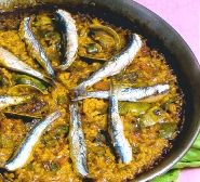 005002 Paella recipe - anchovy and spinach - Spanish recipes