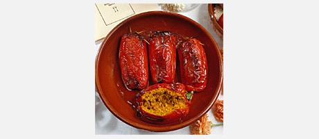 005020 Peppers stuffed with rice recipe - Spanish recipes