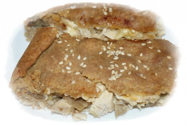 005028 Chicken pie with mushrooms recipe – Greek recipes