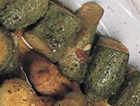 005041 Zucchinis with garlic in the oven – Greek recipes