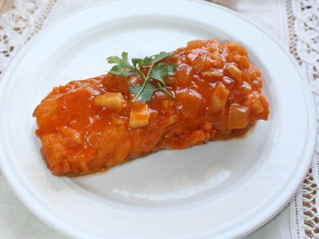 Cod Recipes – Fried cod with tomato recipe – Bacalo frito con tomate – Spanish recipes