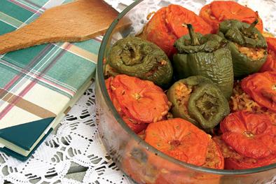 005047 Gemista recipe - Vegetables stuffed with rice – Greek recipes