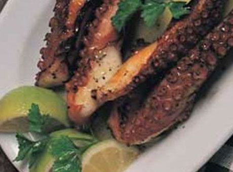 005069 Grilled octopus on the charcoals – Greek recipes